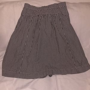 J. Crew Voluminous Black + White Gingham Skirt